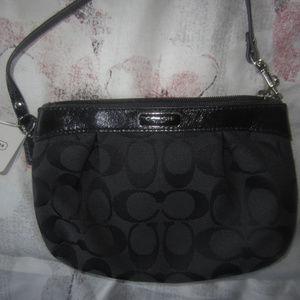 Small Black Coach Wristlet?/Bag